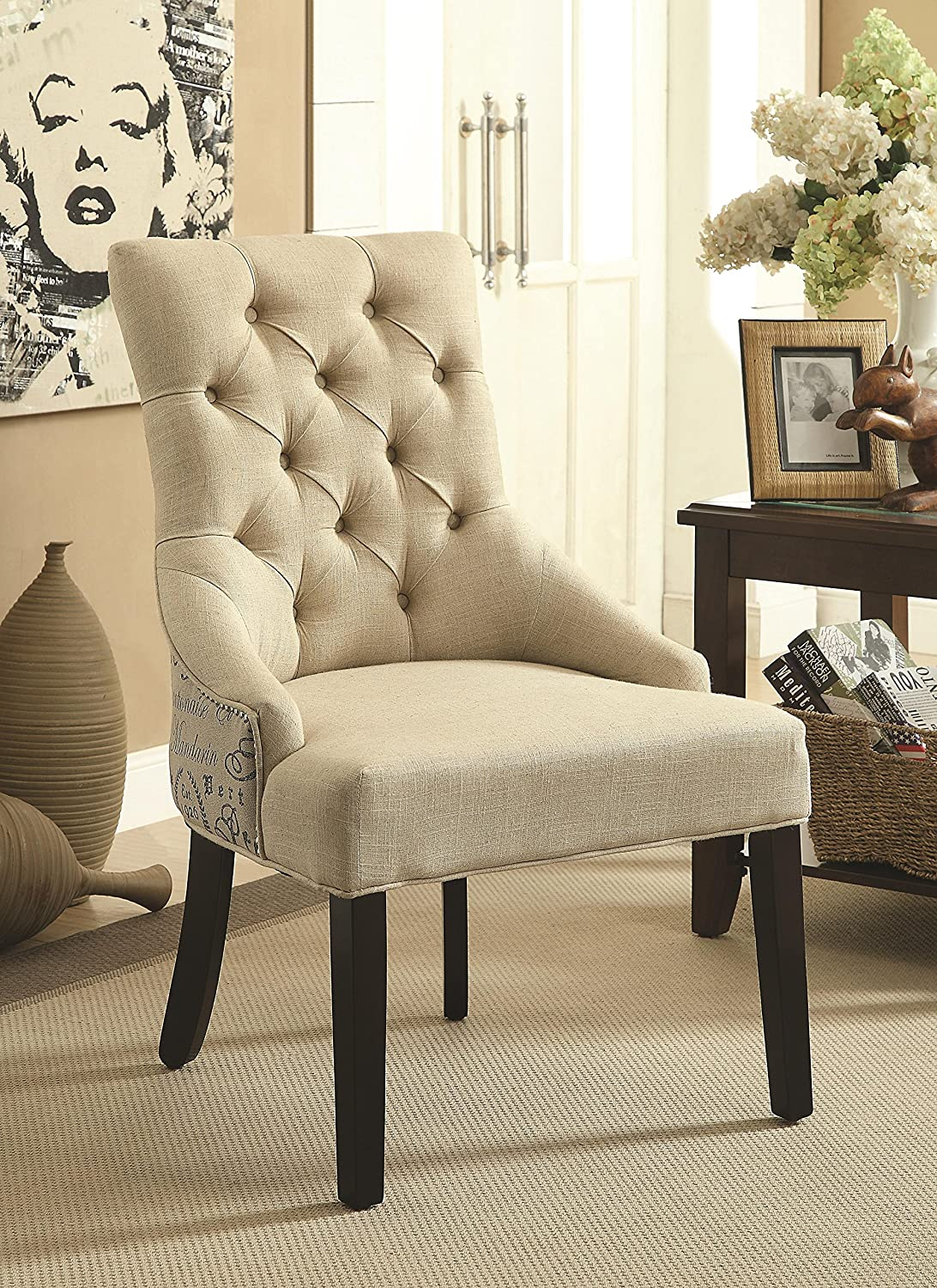 Coaster Home Furnishings Accent Chair, Beige