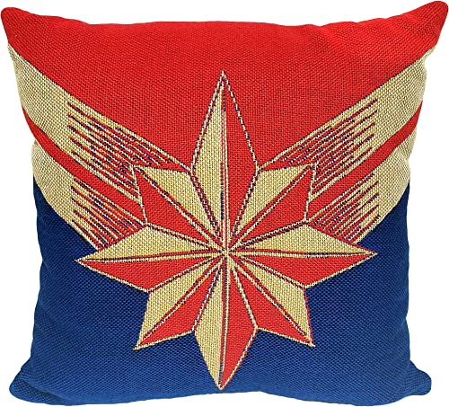 Marvel Captain Marvel, Protector of Skies Woven Jacquard Pillow, 20 x 20 , Multi Color