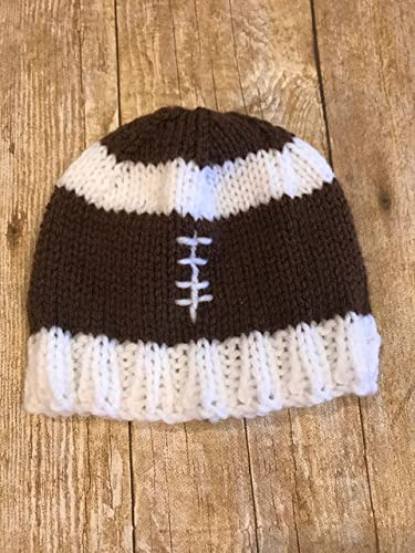 e4e4f0ab8 Amazon.com: Baby knitted football hat Handknitted knit sports baby ...
