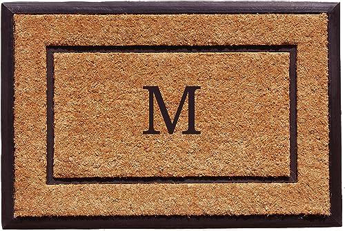 Home More 101632436M The General Monogram Doormat, Letter M