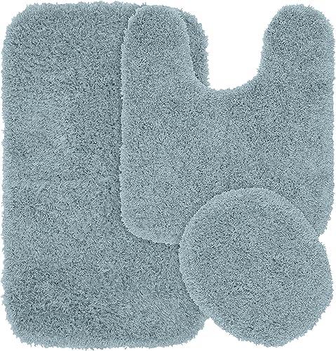 Garland Rug 3-Piece Jazz Shaggy Washable Nylon Bathroom Rug Set