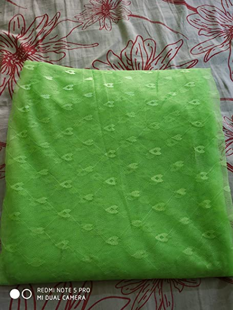 Shri ashu creation Superior Luxor Qualtiy Mosquito Net for Bed - (7 * 7 feet) Green