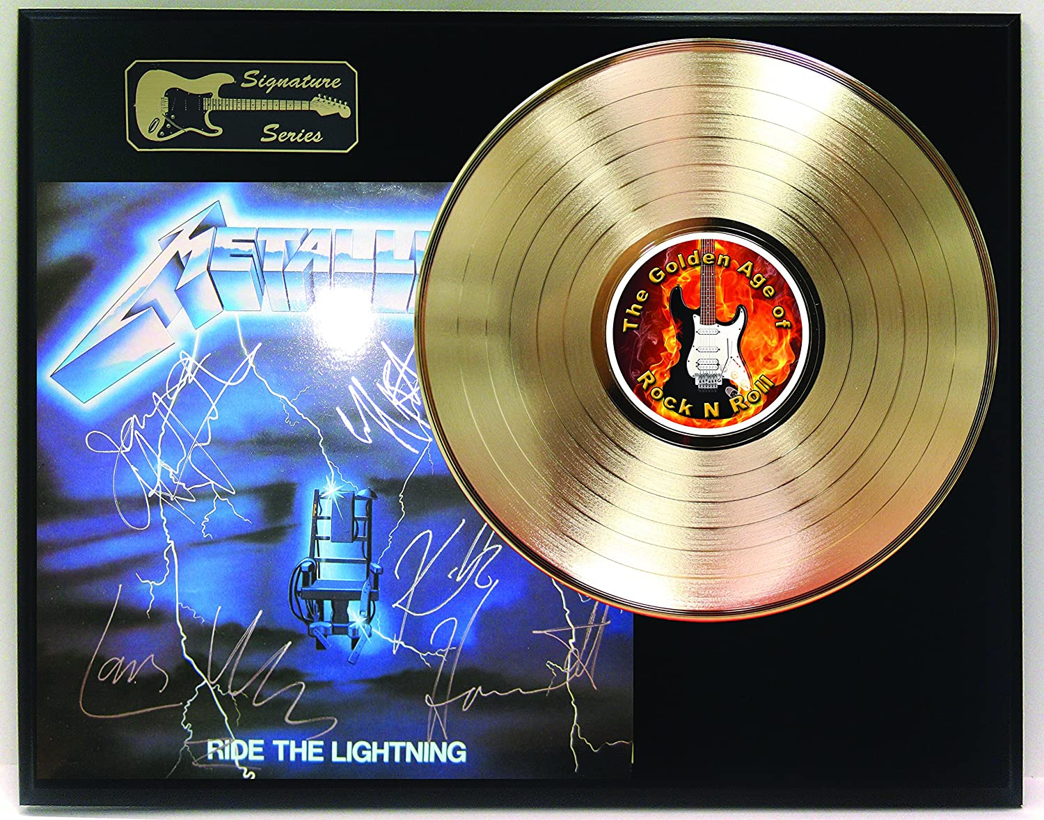 Metallica Gold LP Record Reproduction Signature Series Limited Edition Display
