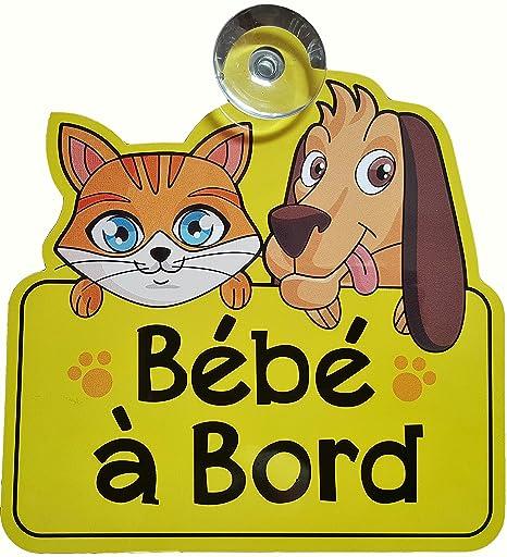 BÉBÉ À BORD Panneau de voiture avec ventouse - Signe de ...