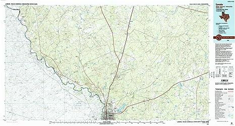 Map Of Texas Showing Laredo.Amazon Com Yellowmaps Laredo Tx Topo Map 1 100000 Scale 30 X 60