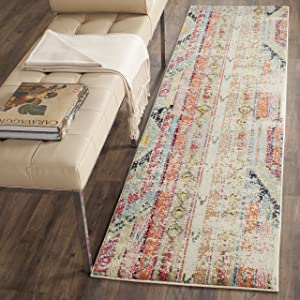 "Safavieh Monaco Collection MNC222F Modern Bohemian Multicolored Distressed Runner (2'2"" x 6')"