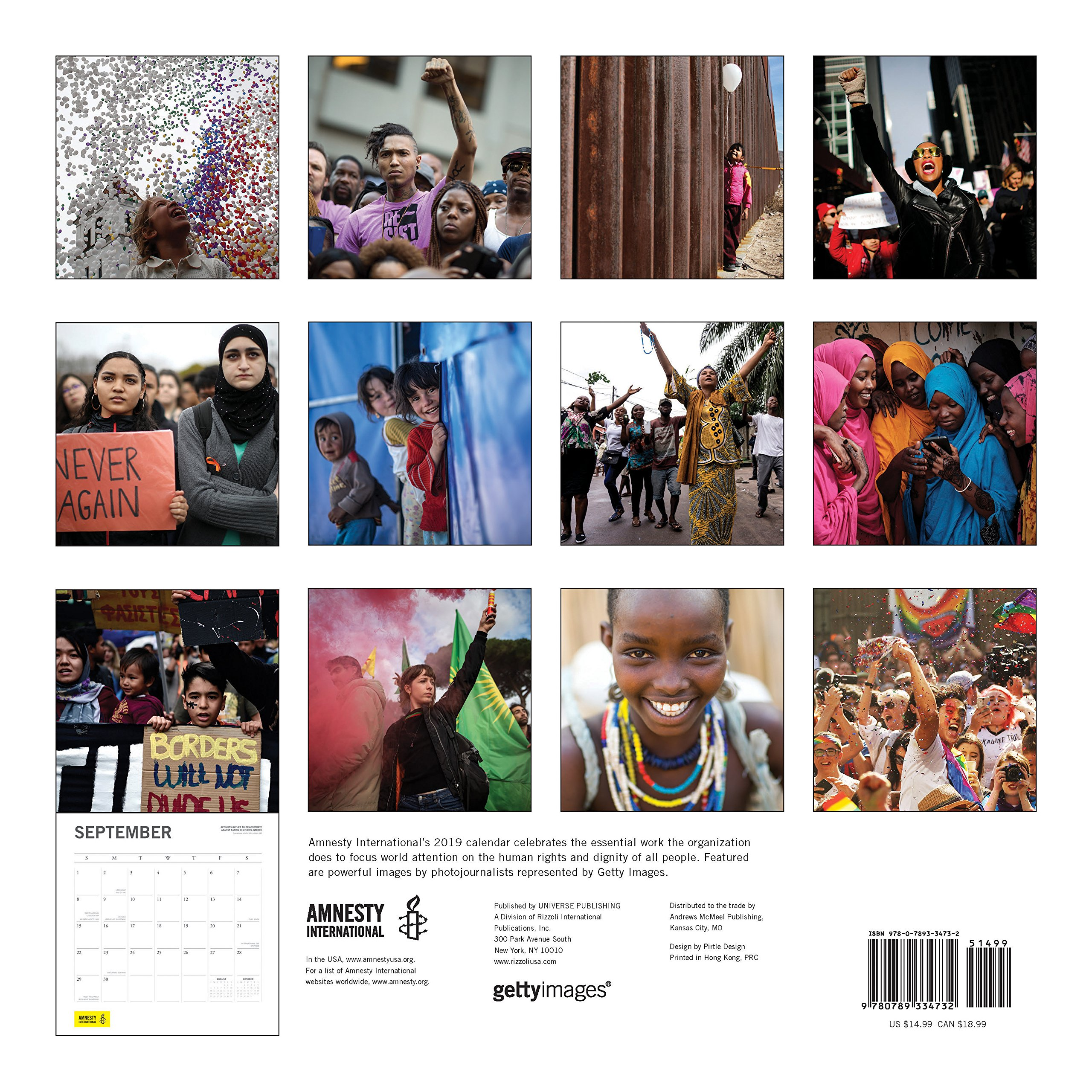 Amnesty International 2019 Wall Calendar: Amnesty ...