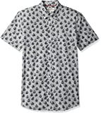 Goodthreads Amazon Brand Men's Slim-Fit Short-Sleeve Printed Poplin Shirt