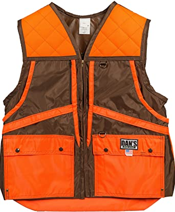 92c46d602b727 Amazon.com: Dan's Hunting Gear Briar Proof Squirrel, Rabbit Hunting Vest,  Made in U.S.A.: Clothing