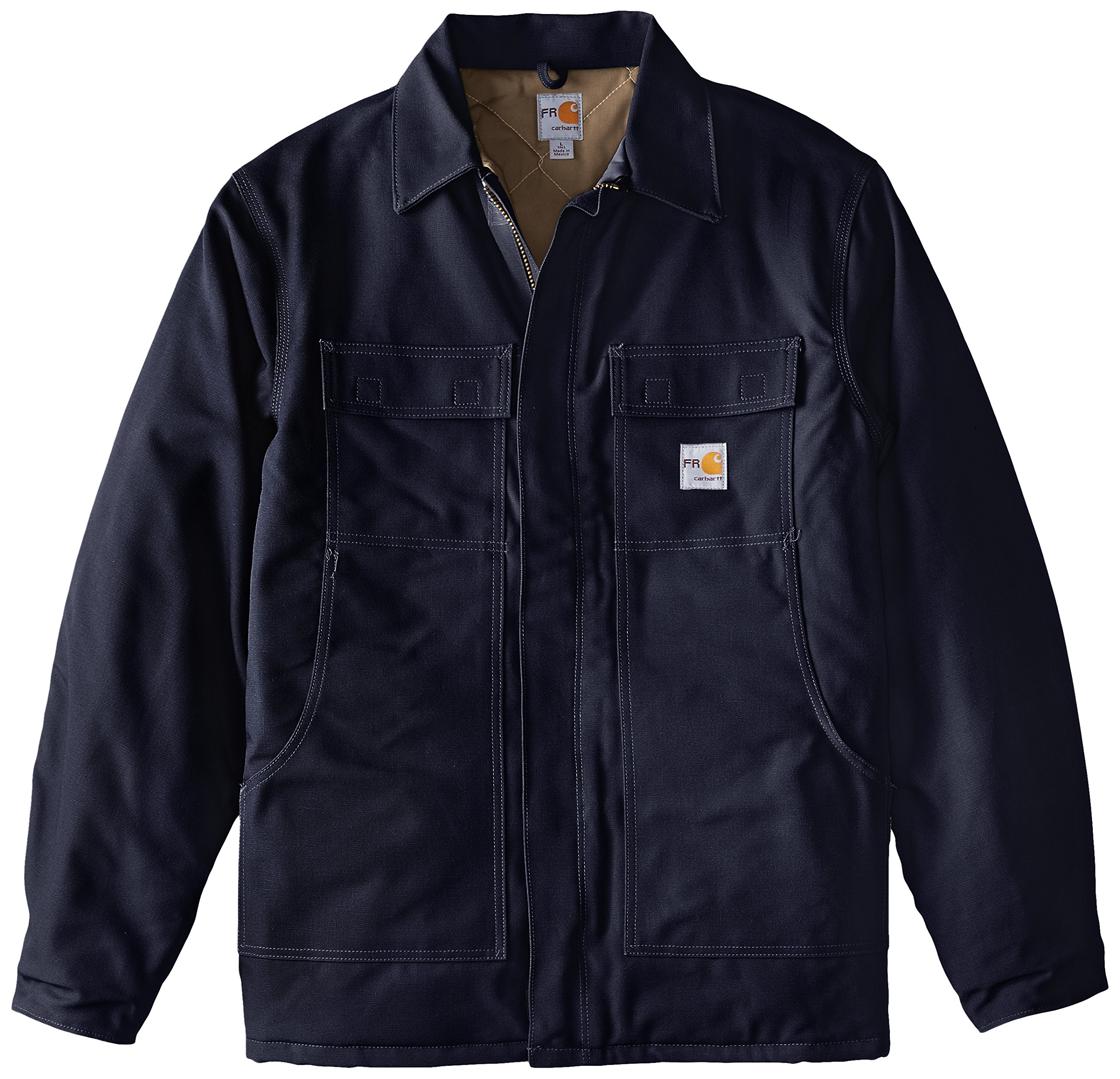 Carhartt Men's Big-Tall Flame Resistant Duck Traditional Coat, Dark Navy, X-Large/Tall by Carhartt (Image #1)