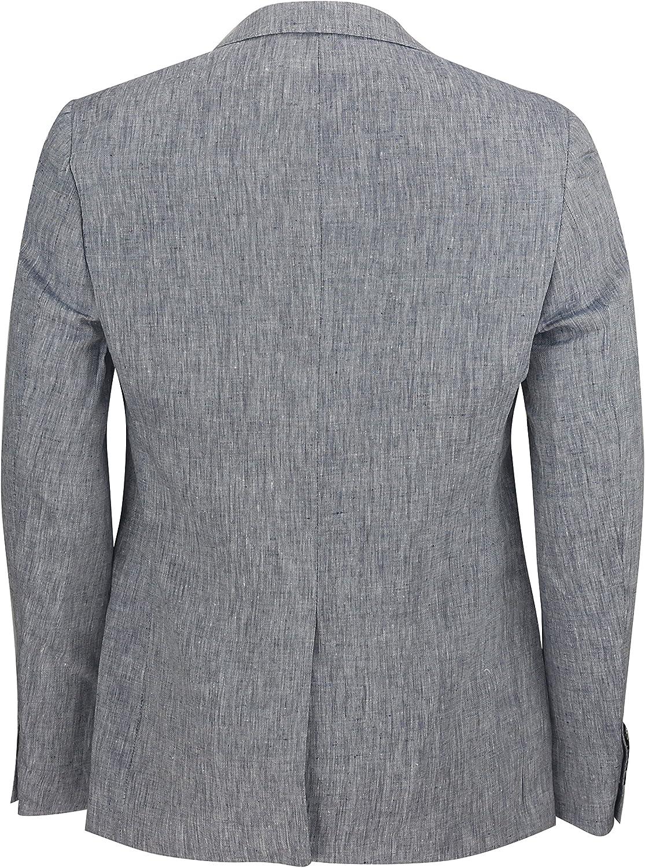Mens Cotton Linen Blend Slim Fit Smart Casual Blazer Italian Designer Vintage Suit Coat Jacket 4 Colours