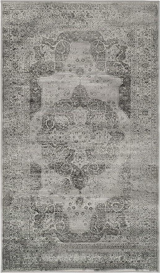 Safavieh VTG158-770-3 Alfombra, Algodón, Gris/Multicolor, 99 x 170 ...