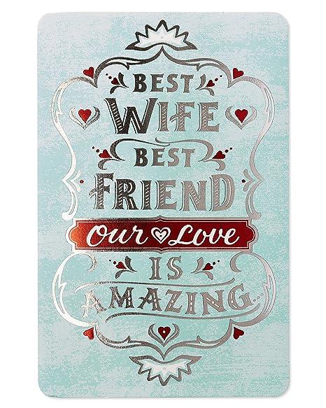 Amazon.com: Nuestro Amor tarjeta de cumpleaños para esposa ...