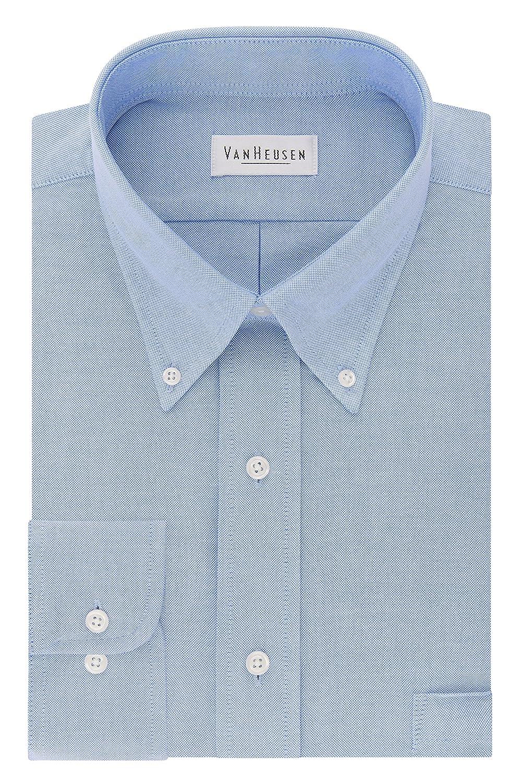 Van Heusen Mens Dress Shirts Regular Fit Oxford Solid Button Down