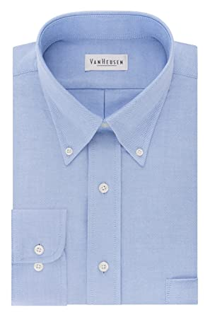 3994d42594 Van Heusen Men s Dress Shirt Regular Fit Oxford Solid at Amazon ...