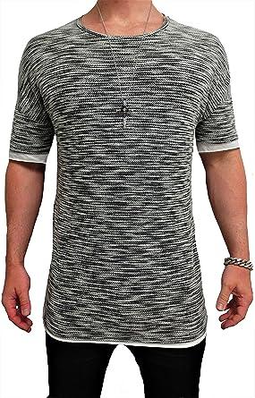 Herren Oversize Designer T-Shirt Tee Longshirt basic slim-fit kurzarm lange  Oversized männer ausschnitt long men mens fit sweatshirt shirts neck v  rundhals ... e4bd03b518