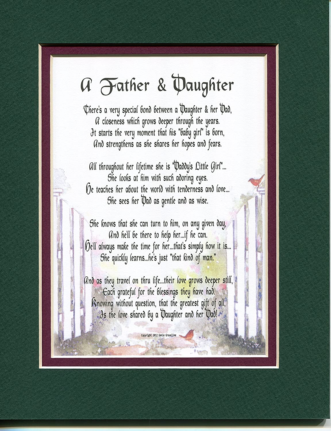 Amazon.com: A Father And Daughter A Father\'s Day Gift Poem Christmas ...