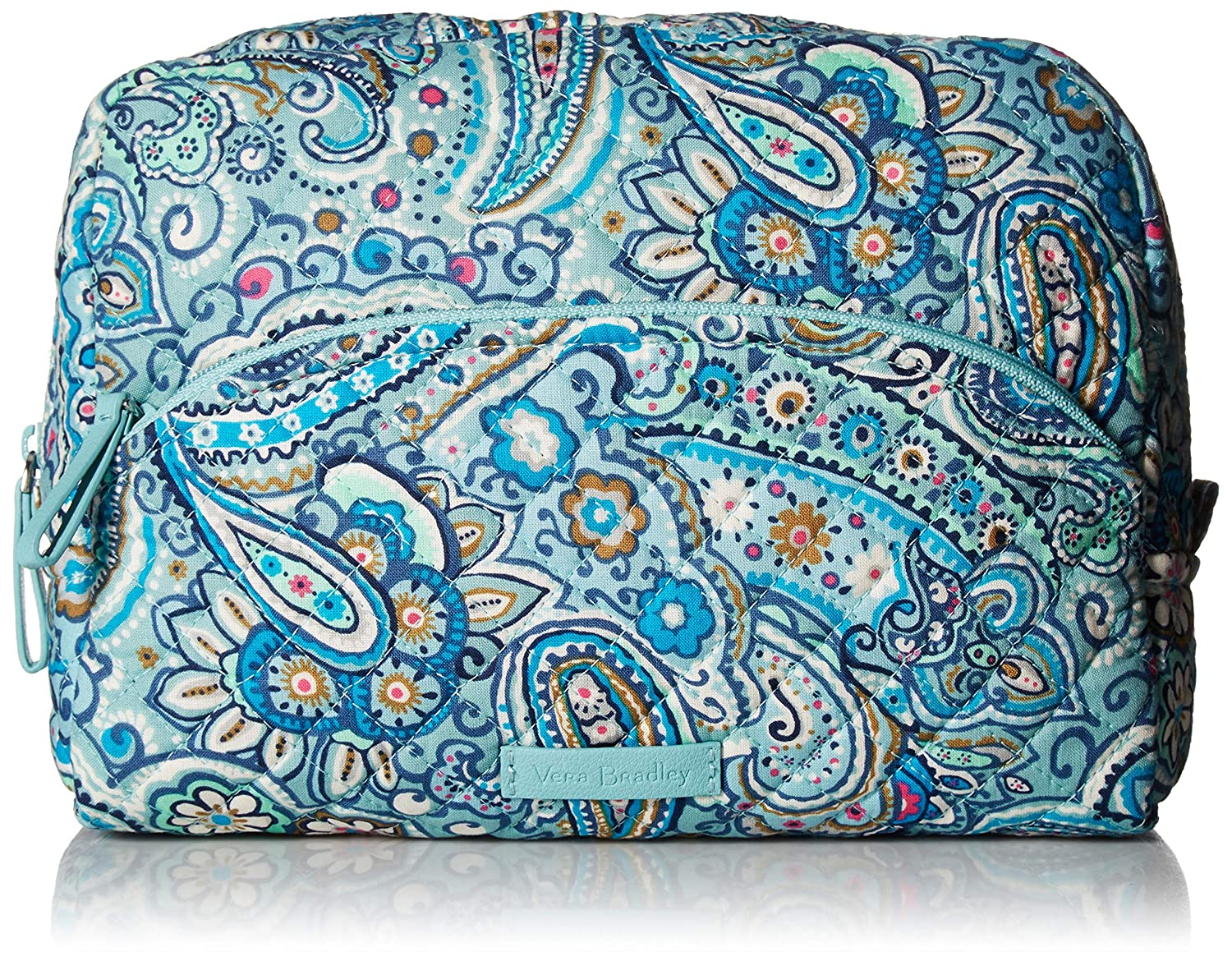 Vera Bradley Women's Signature Cotton Large Cosmetic Makeup Bag