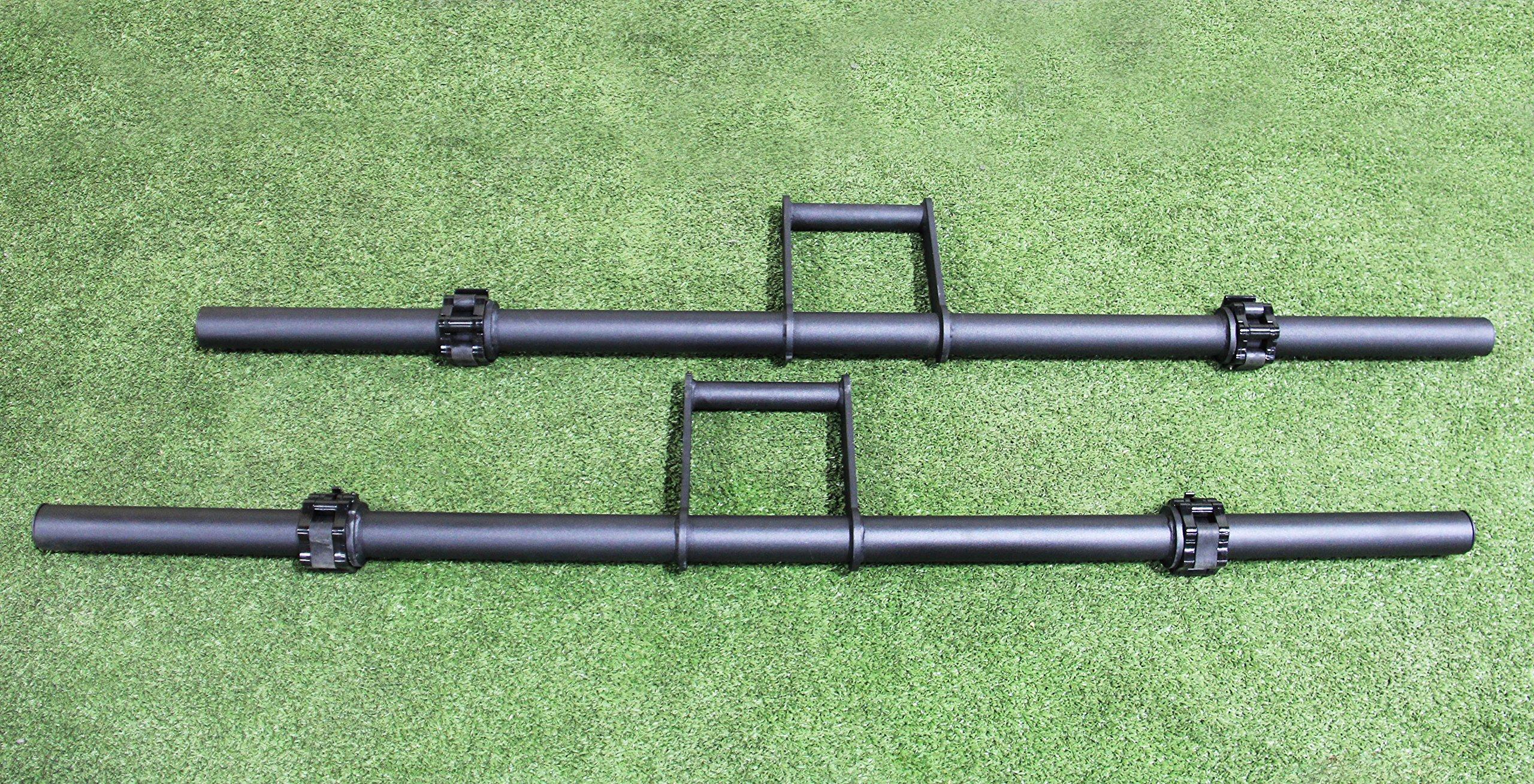 Strencor Farmer Carry Handles w/ 4x LockJaw Heavy Duty Collars (pair) by Strencor Fitness