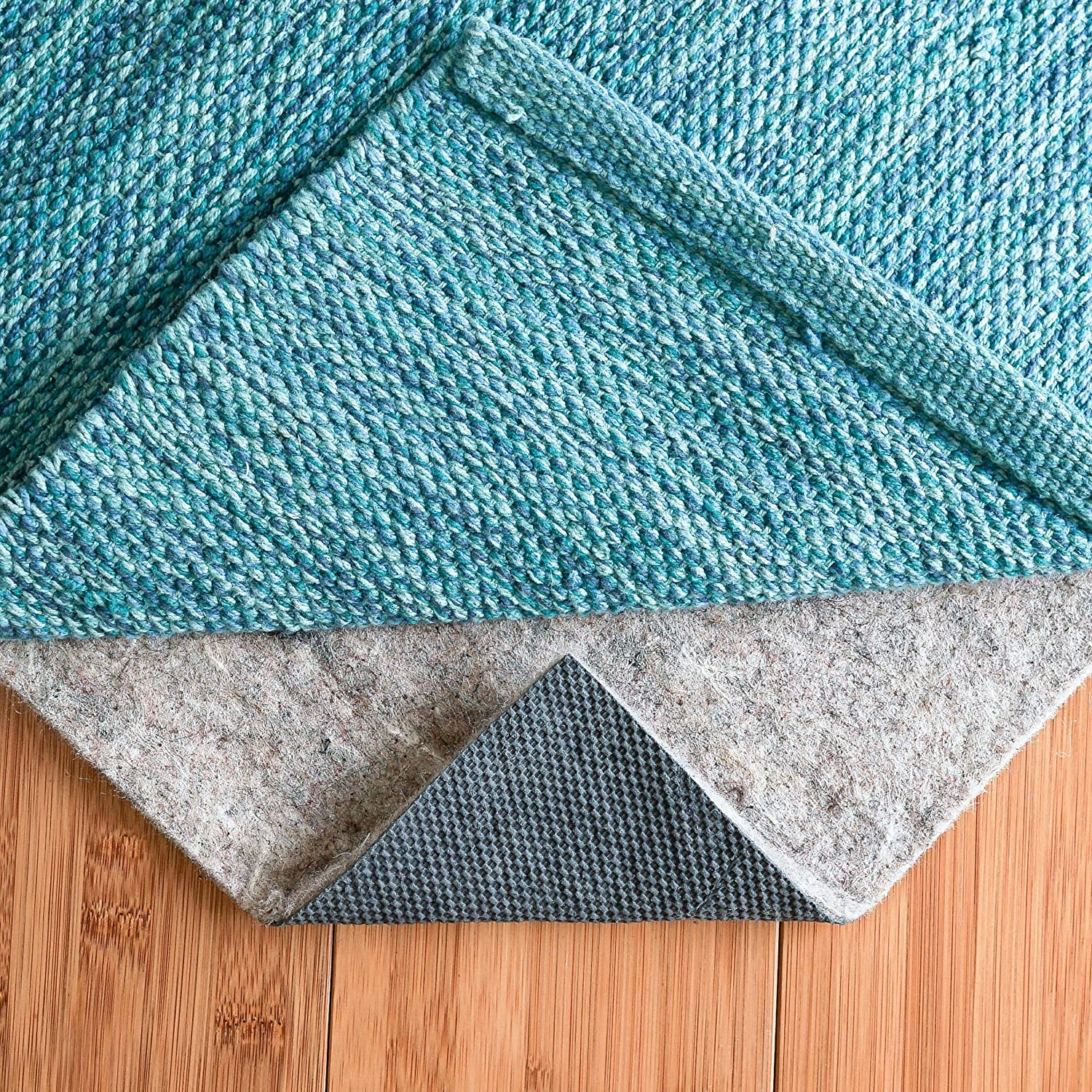 "Safe for all Floors and Finishes RUGPADUSA Non-Slip Rug Pad Rubber Rug Pad Adds Cushion and Floor Protection Under Rugs 1//4/"" Thick Basics Felt 8x10"