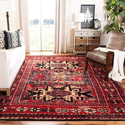 Safavieh Vintage Hamadan Collection VTH213A Red and Multi Area Rug