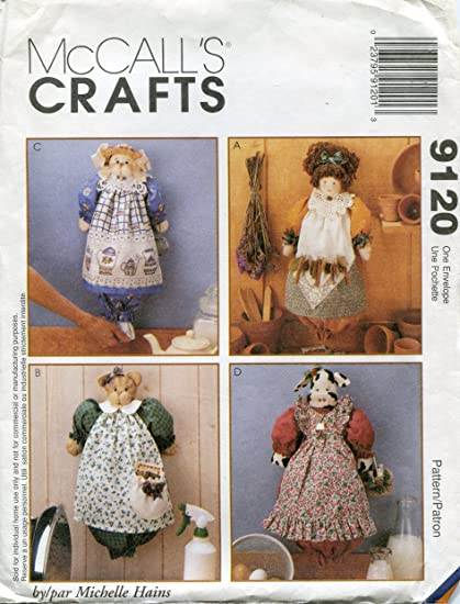 Amazon McCall's Crafts Pattern 60 Doll Cat Bunny And Cow New Mccalls Craft Patterns