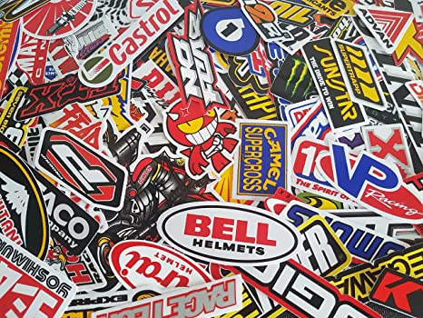 Amazon Com 200 Pcs Of Sponsor Stickers Vintage Racing Decal Rare