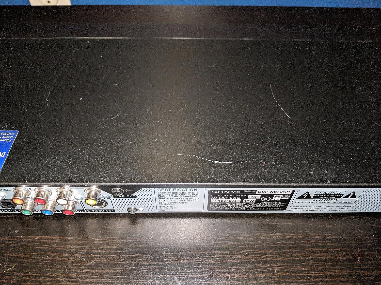 amazon com sony dvp ns72hp single disc upscaling dvd player black rh amazon com Sony DVR Sony DVD Player