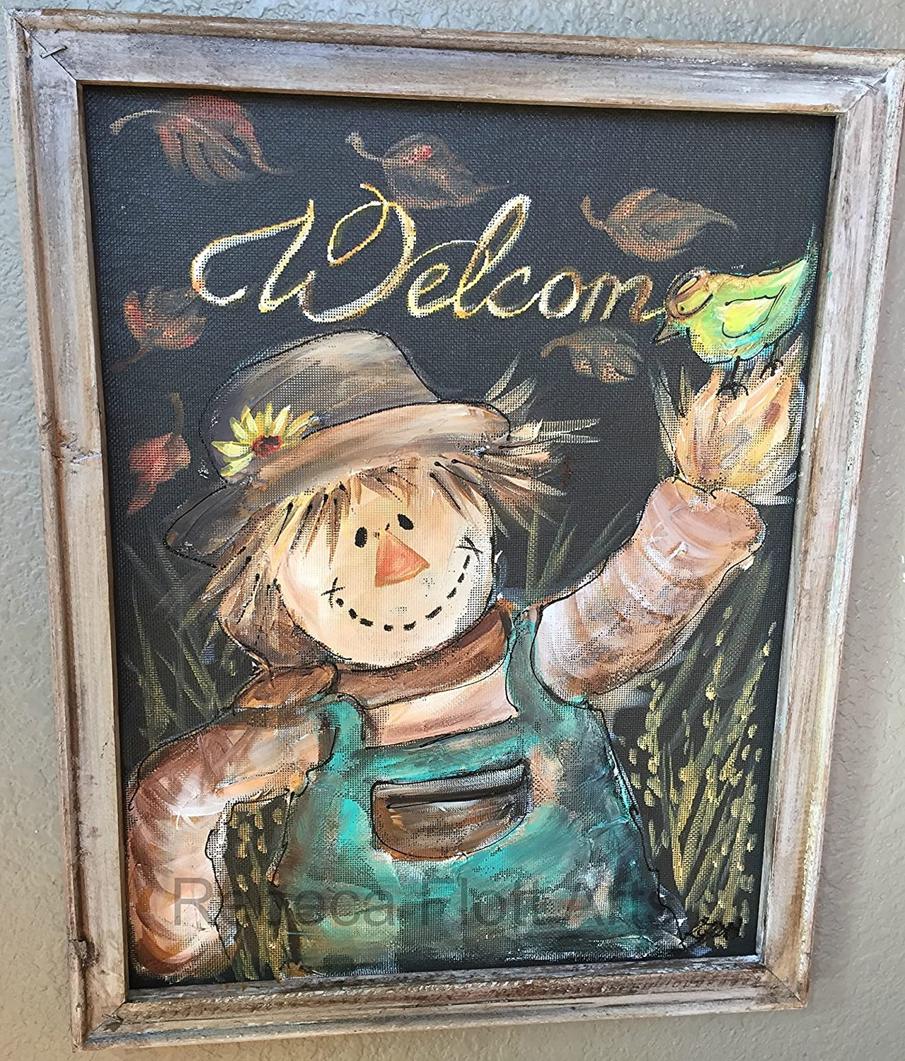 Amazoncom Scarecrow Hand Painting On Window Screenfall
