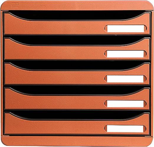 Exacompta 309788D color naranja 5 cajones Caja organizadora