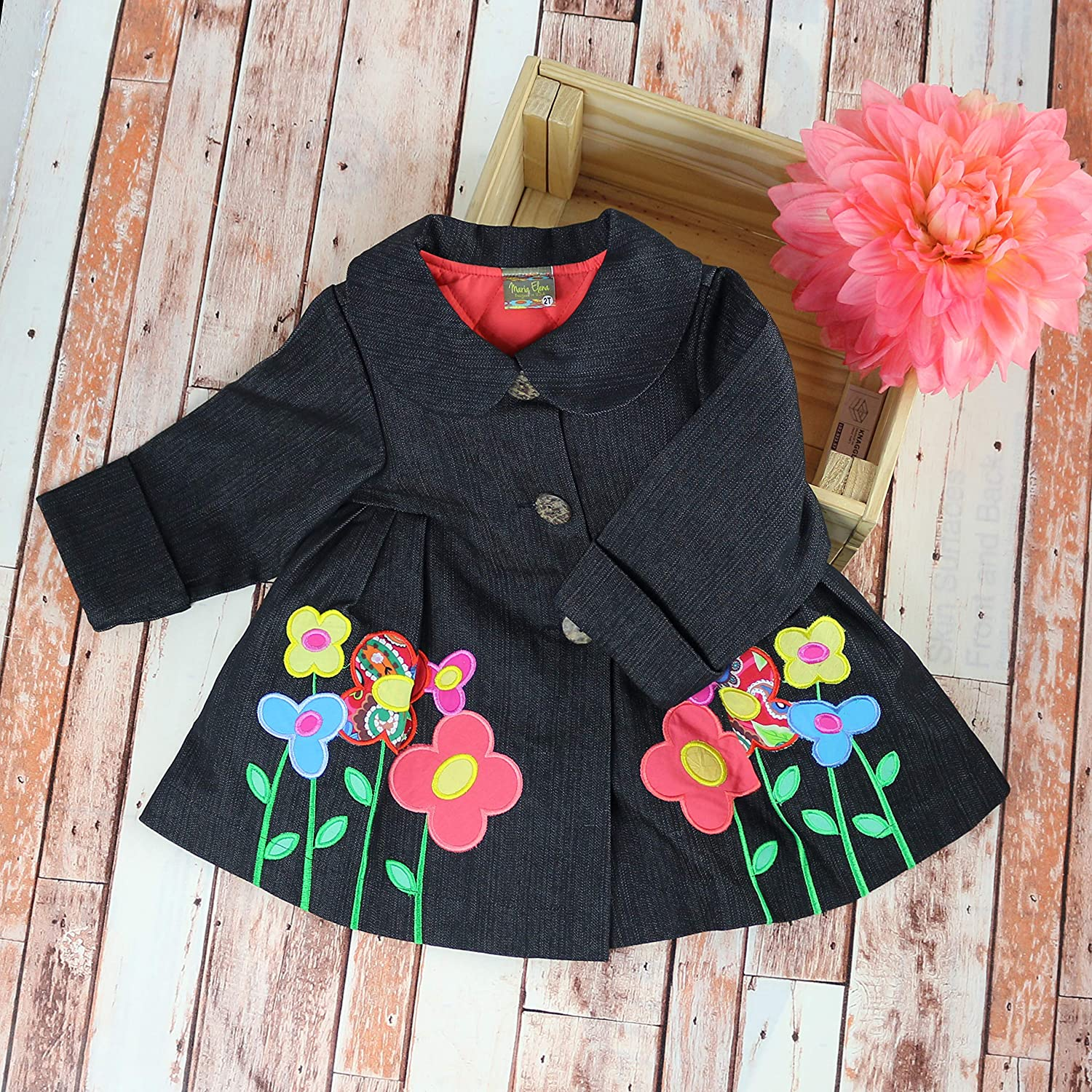 Toddlers and Girls Maria Elena 2-7//8 Blooms in Winter Denim Swing Jacket