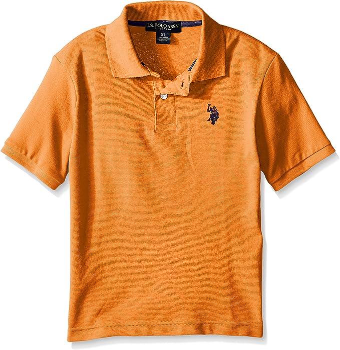 U.S. Polo Assn. Boys Classic Polo Shirt, Orange Heather, 2T ...