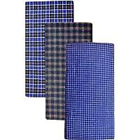 BlueLeaf Men's Cotton Multi Color Lungis (Set of 3)