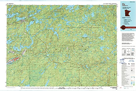 Amazon.com : Ely MN topo map, 1:100000 scale, 30 X 60 Minute ...