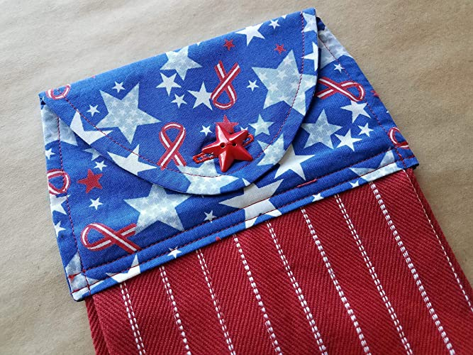 121bce6ca780 Amazon.com  Patriotic Stars and Stripes Hanging Kitchen Towel ...