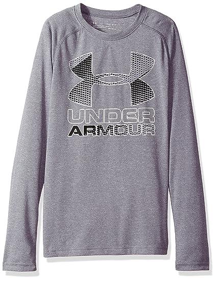 7dcfddbc Under Armour Boys' Hybrid Big Logo Long Sleeve t
