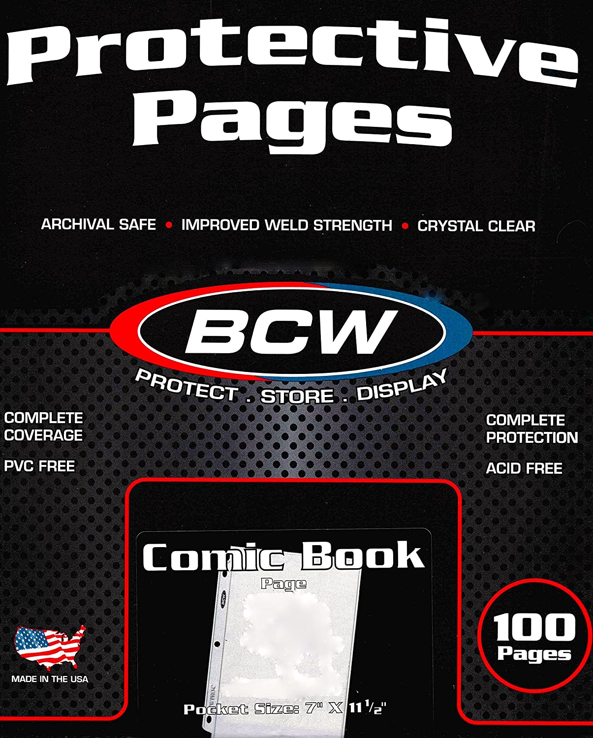 1 Pocket Comic Book Protection 20 Pages BCW Acid Free High Quality Safe Storage