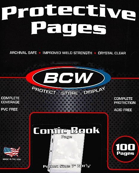 BCW Pro Comic Page Comics Comic Books Storage Collecting Supplies 100 Count Box  sc 1 st  Amazon.com & Amazon.com: BCW Pro Comic Page Comics Comic Books Storage ...