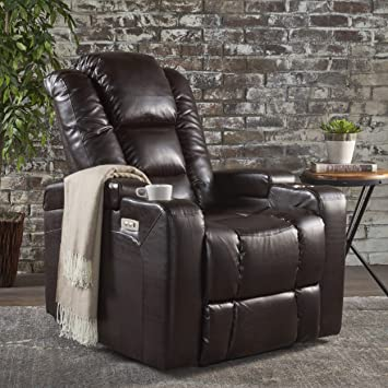 Phenomenal Christopher Knight Home Everette Power Motion Recliner Brown Pdpeps Interior Chair Design Pdpepsorg