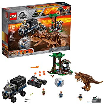 Lego Jurassic World Carnotaurus Gyrosphere Escape 75929 577 Pieces