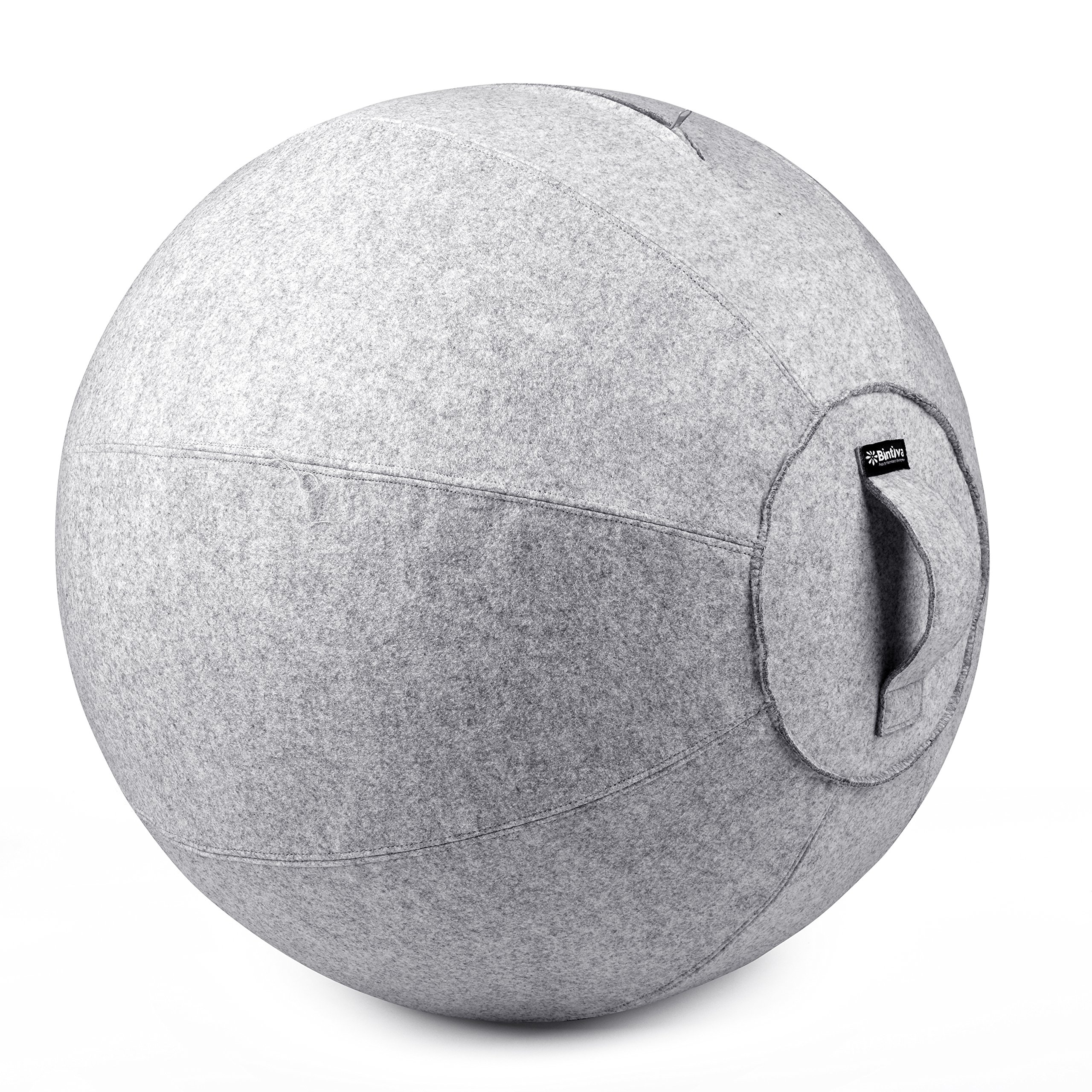 Stability Ball Chair for Office - Ergonomic Seating/Labor Birthing Pregnancy/Yoga Balance Stability Exercise Fitness - Felt Cover by bintiva