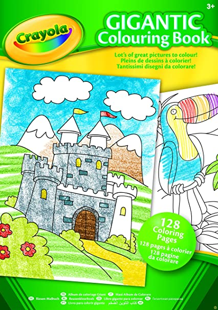 Crayola Libro Da Colorare Gigante Formato A4 Amazon It Libri In
