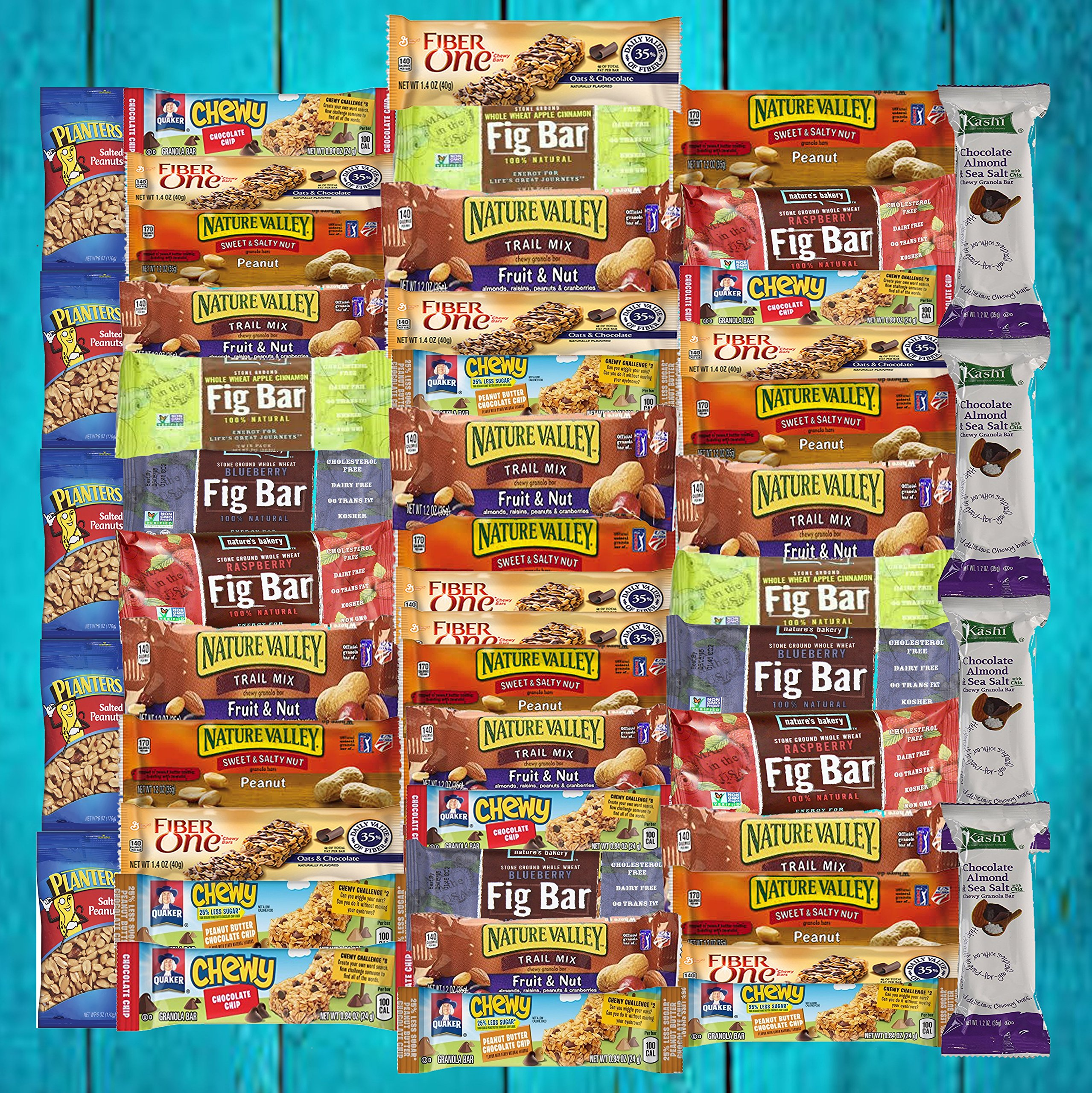 Ultimate Healthy Bar & Snacks Variety Pack Bulk Sampler (50 Count) by US Whole Food