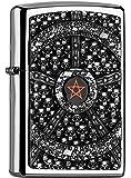 Zippo 2.005.043 Feuerzeug Skull Pentagram Collection Spring 2016, Hochglanz Chrom