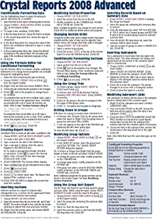 crystal reports 2008 quick reference guide introduction cheat rh amazon com crystal reports quick reference guide Reference Guide Template
