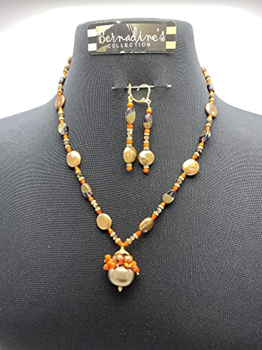 Necklace handmade rhinestone gold silver