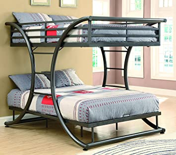 coaster home furnishings 460078 bunk bed gunmetal - Bunk Bed Frame