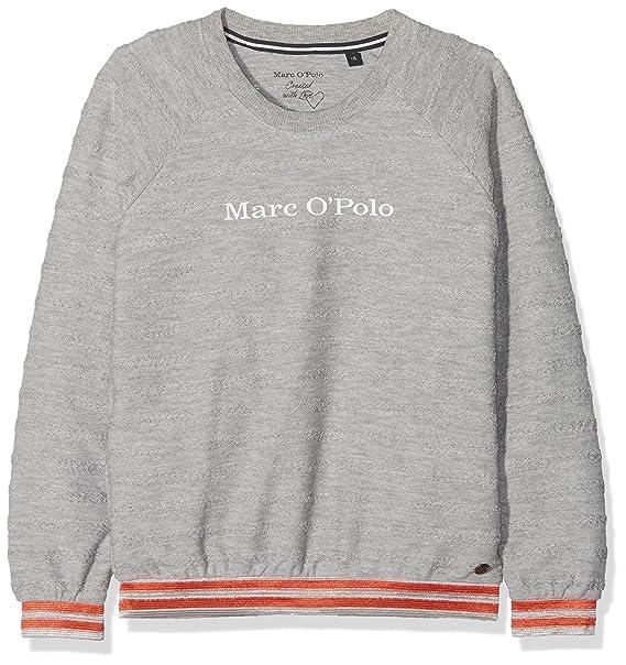 Marc OPolo Sweatshirt 1/1 Arm, Sudadera para Niñas, Grau (