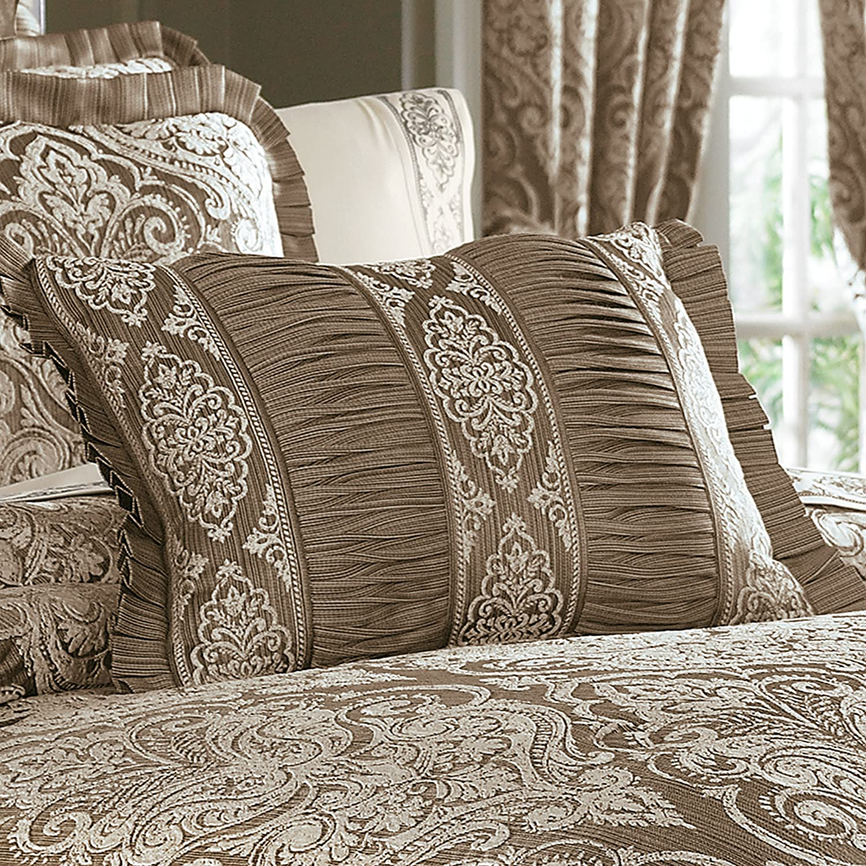 Five Queens Court Stanford Boudoir Pillow, Mocha