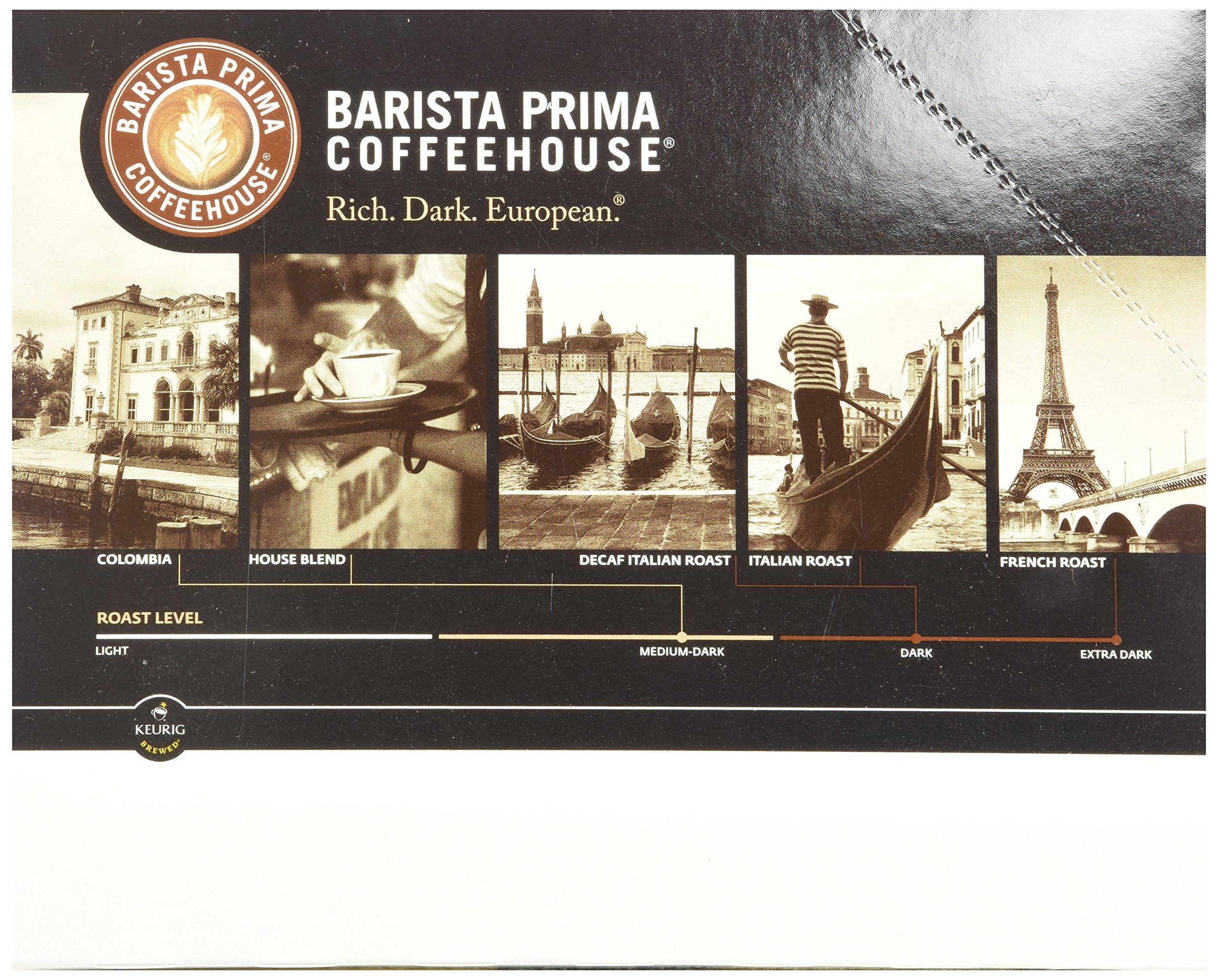 Barista Prima Decaf Coffee, Italian Roast, Rich. Dark. European., 24- Count K-Cup
